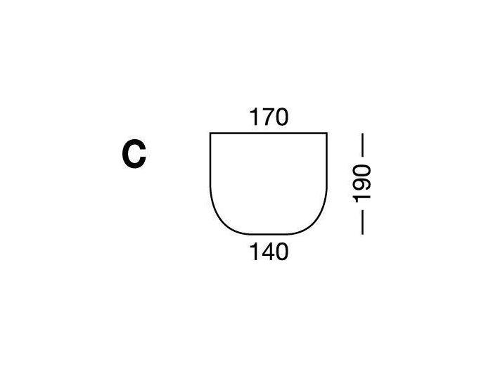 Простынка на резинке, форма кровати по схеме C, White