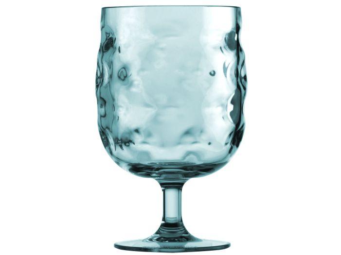 HARMONY келихи для води / вина на ніжці, морської хвилі, набір 6 шт