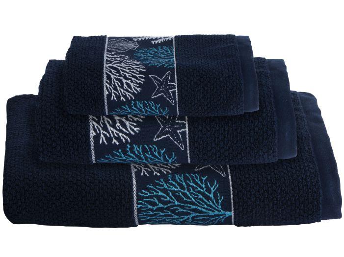 IBIZA Blue комплект 3 рушники, 140x70, 100x50, 50x33 см.