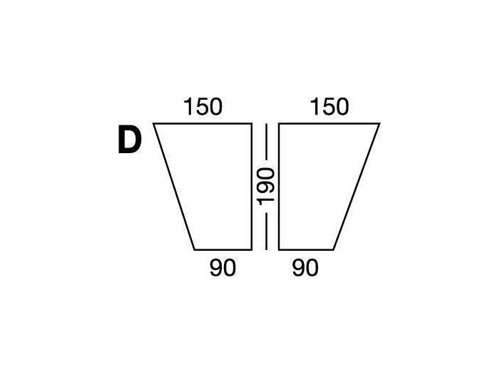 Простынка на резинке, форма кровати по схеме D, White