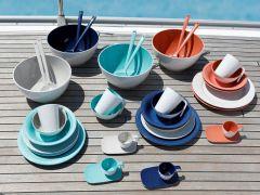 SUMMER Blue салатниця зі столовими приборами