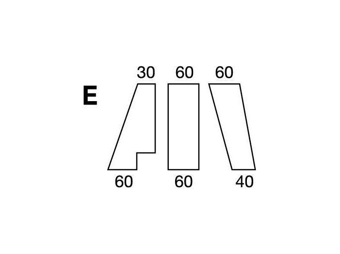 Простынка на резинке, форма кровати по схеме E, White
