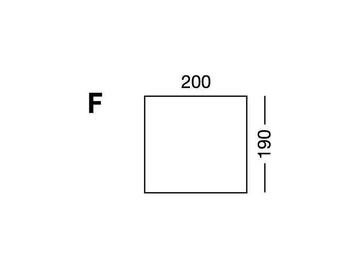 Простынка на резинке, форма кровати по схеме F, White