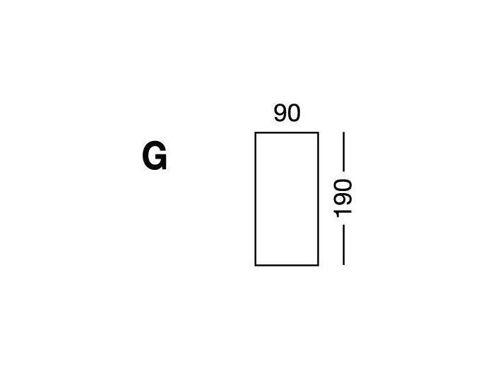 Простынка на резинке, форма кровати по схеме G, White