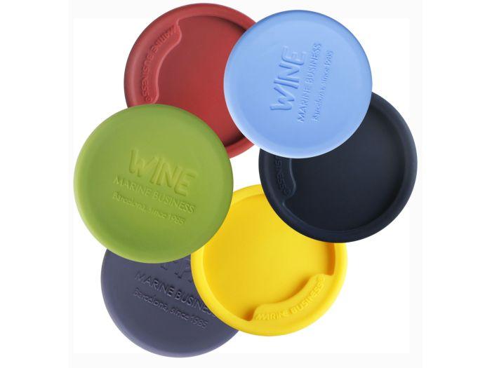 PARTY набор разноцветных нескользящих накладок на винные бокалы, набор 6 шт.