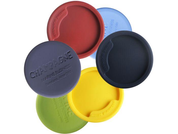 PARTY набор разноцветных нескользящих накладок на бокалы для шампанского, набор 6 шт.