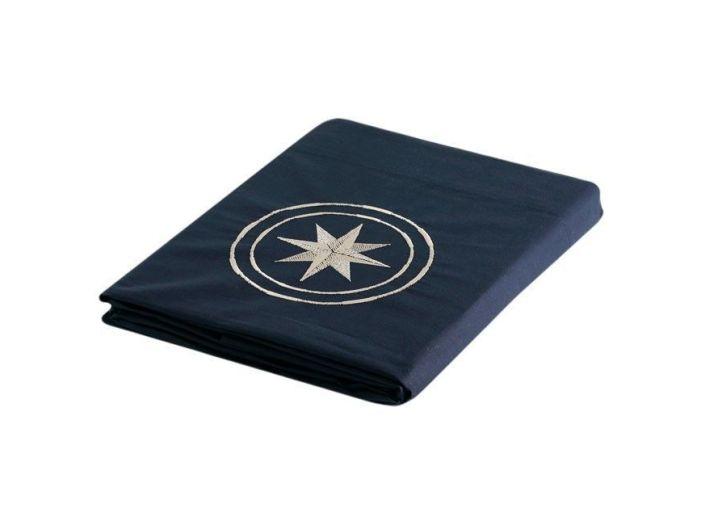 FREE STYLE темно-синяя верхняя простынь и наволочка, односпальный комплект