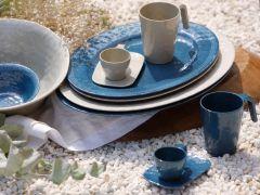 Harmony тарелка плоская, голубая набор 6 шт.