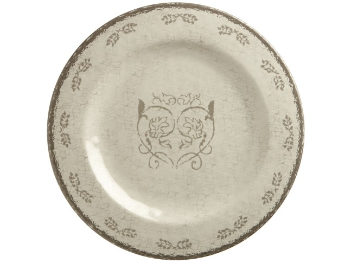 LOVE тарелка плоская с рисунком, цвета слоновой кости набор 6 шт.