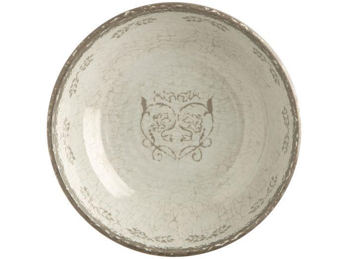 LOVE тарелка глубокая с рисунком, цвета слоновой кости набор 6 шт.