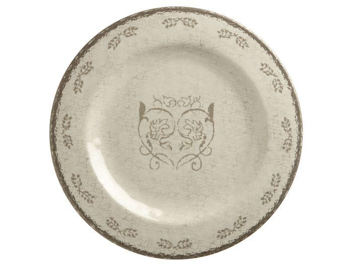 LOVE тарелка десертная с рисунком, цвета слоновой кости набор 6 шт.