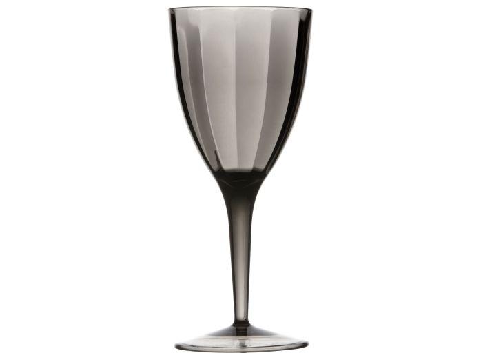 LOVE бокалы для вина граненые, серые набор 6 шт.