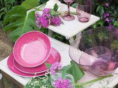ROSETTE тарелка глубокая, пурпурная набор 6 шт.
