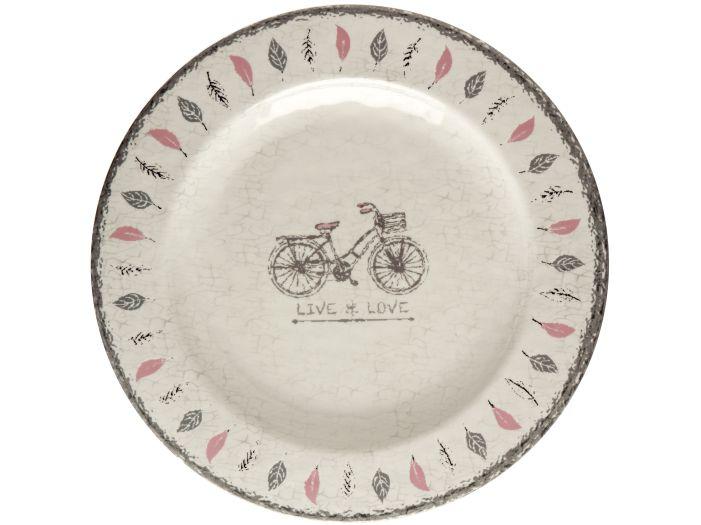 TOSCANA тарелка десертная с рисунком, цвета слоновой кости набор 6 шт.