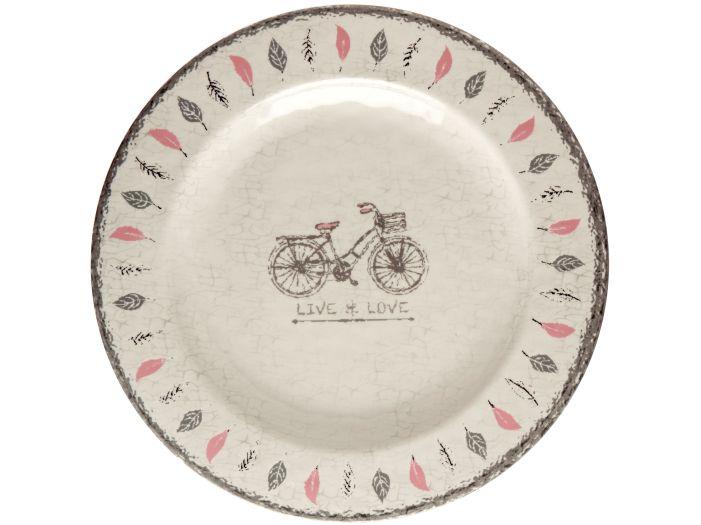 TOSCANA тарелка плоская, цвета слоновой кости набор 6 шт.