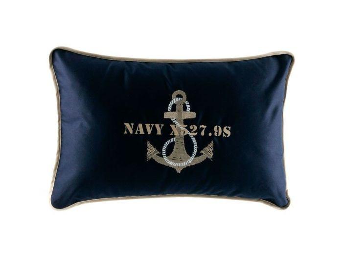 ANCHOR темно-синяя декоративная подушка 40 x 60 см