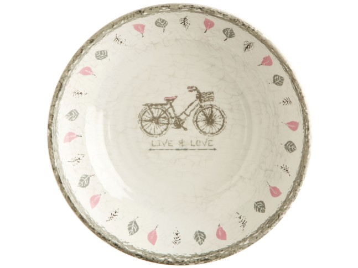 TOSCANA тарелка глубокая с рисунком, цвета слоновой кости набор 6 шт.