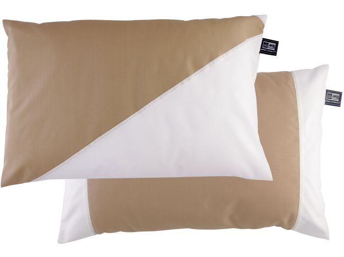 WATERPROOF Водоотталкивающие подушка (2 шт.) 60х40 см., бежевая с белым