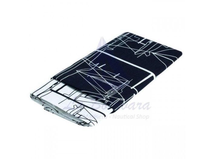 CLIPPER синяя простынь и наволочка, двуспальный комплект