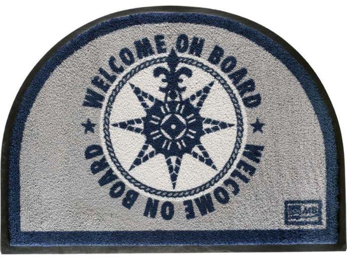 "WELCOME Коврик входной ""WELCOM ON BOARD BLUE"", 70 x 50 см."