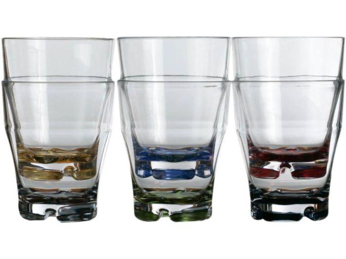 PARTY стакан, цветное основание, набор 6 шт.