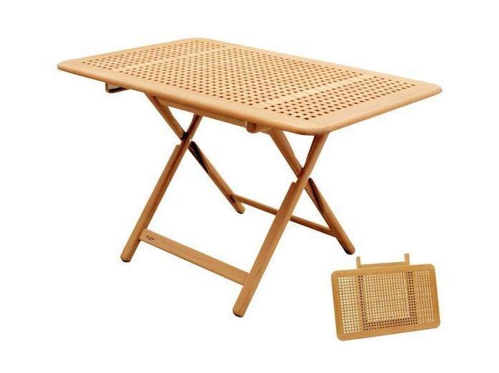 Складной стол из тикового дерева регулируровка по высоте 8 позиций 120 x 75 см.