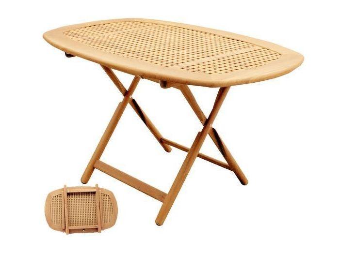 Овальный стол из тика регулируется в 6 положений по высоте 130 х 82 см