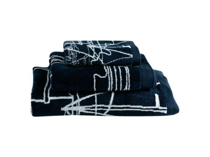 CLIPPER набор 3 полотенца, темно-синие