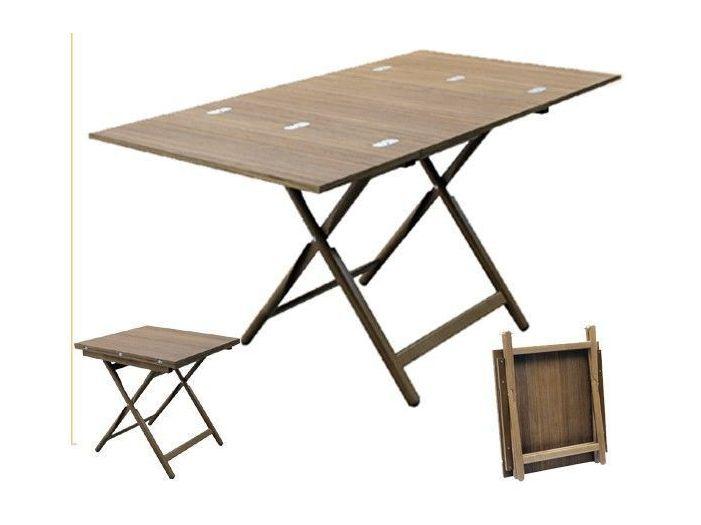 Стол тиковый 140 х 75 (70 x 75) см
